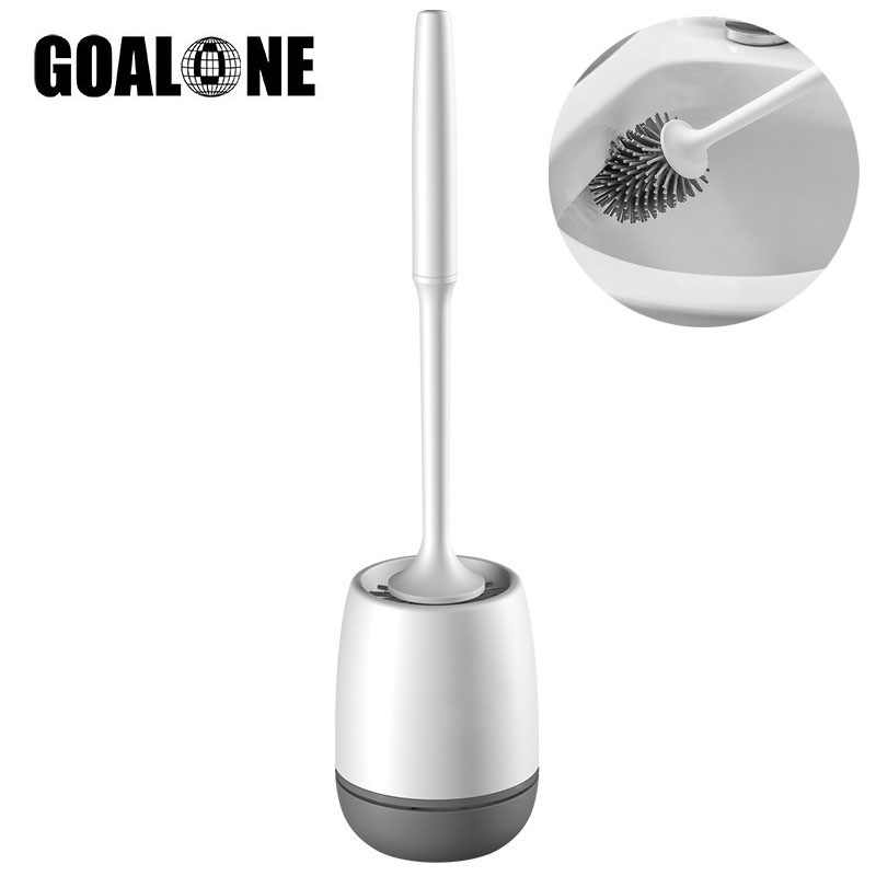Toilet Brush and Holder Set Wall Mount or Floor-Standing Cleaning Brush Soft Bristles Toilet Bowl Brush Kit Bathroom Accessories