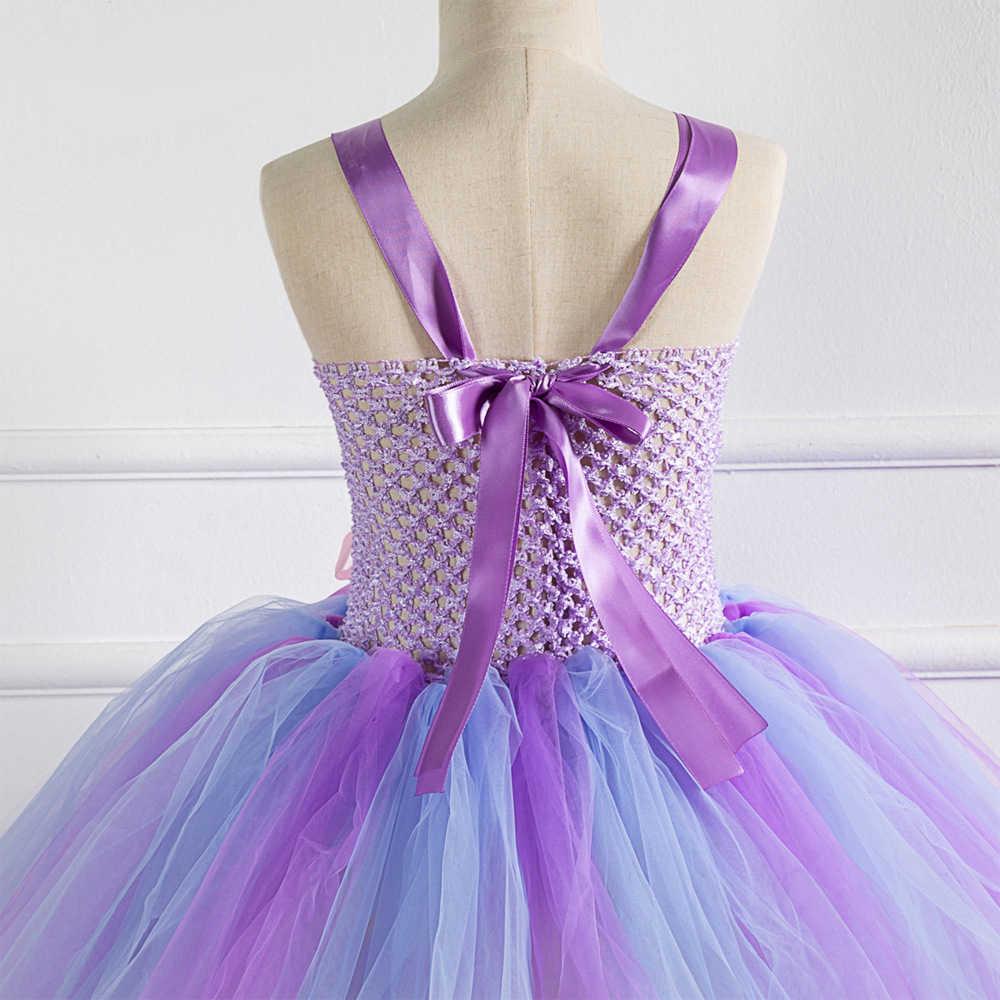 優雅な夢の夏の人魚とヘッドバンド王女の花の子供人魚ハロウィーンパーティーの服