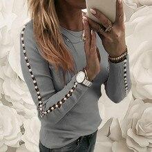 Женская Осенняя уличная одежда Wuinter, топы с длинным рукавом, пуловер, повседневный тонкий мешковатый джемпер, футболка, Новое поступление