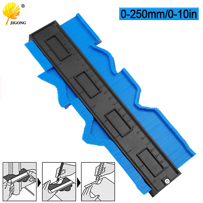 Multi-functio Contour Profile Gauge Tiling Laminate Tiles Edge Shaping Wood Measure Ruler ABS Contour Gauge Duplicator