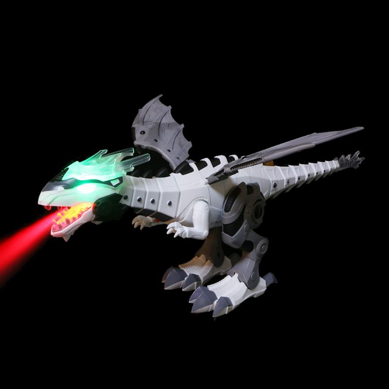 Electronic Pet Interactive Spray Dinosaur Toy Talking Walking Fire Dragon Boy Kid Toy Christmas Gift Beautiful Electronic Pet