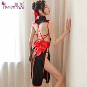 Image 4 - Japanische frauen Dessous Set Kimono Uniform Versuchung Verband Phantasie Cosplay Anime Cosplay Kostüme Unterwäsche Maid Kleid