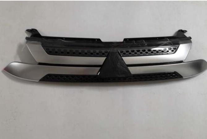 Передний бампер верхняя решетка вставки радиатора для Mitsubishi Outlander 2019 + 1 шт Хромирование      АлиЭкспресс