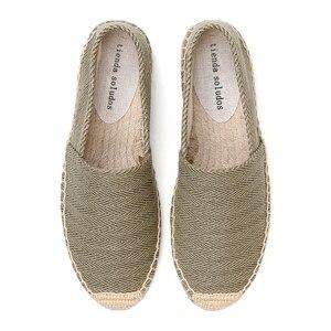 Image 5 - ผู้หญิง espadrilles ขี้เกียจ zapatos mujer ผู้หญิงผ้าใบลำลองรองเท้าการ์ตูนผ้าลินินผู้หญิง Espadrille Fisherman สุภาพสตรีรองเท้า Plimsolls L