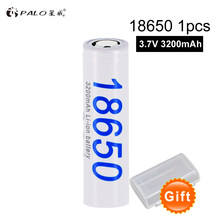 PALO 100% original PALO New DBHE41865 3200mAh Lithium Battery 18650 3.7V power rechargeable batteries for Flashlight Battery(China)