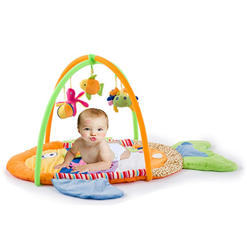 0-12 mois tapis d'activité bébé avec Musical doux Animal sensoriel bébé Gym ramper tapis de jeu jouets éducatifs pour enfants cadeau - 2