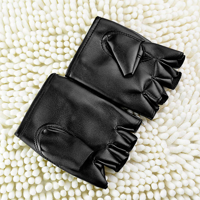 Перчатки в стиле панк из искусственной кожи 6