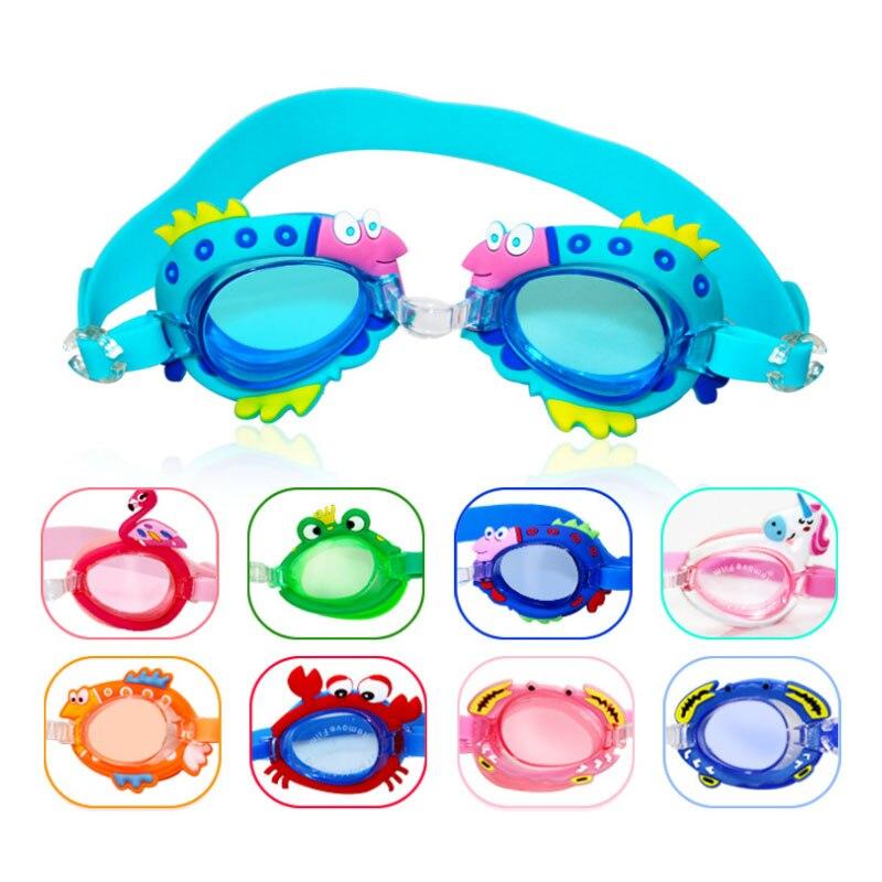 Kids Swim Goggles Swimming Glasses Sunglasses Anti Fog UV Protection Training Mask Children Eyewear Cases Bee Crab Fish Dolphin