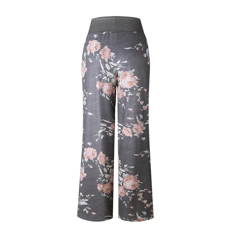 2019 Sleep Bottom Women Cotton Long Pant Home Pajamas Soft Slip Summer Pants Drawstring Big Size Sexy Flower Casual Sleepwear
