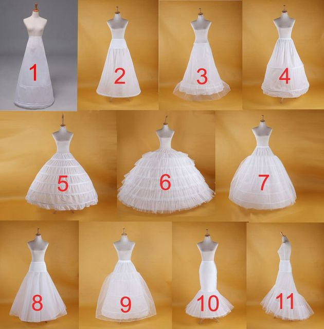 2019 New Hot Sell Bridal Wedding Petticoat Hoop Crinoline Prom Underskirt Fancy Skirt Slip 1