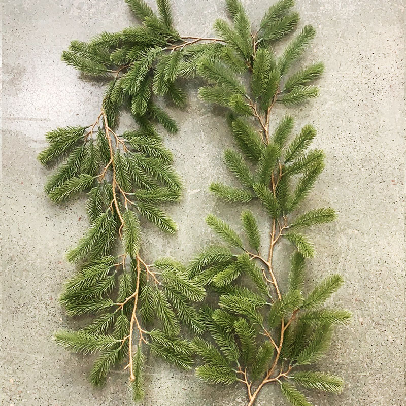1.8m Artificial Green Christmas Garland Wreath Xmas Home Party Christmas Decoration Pine Tree Rattan Hanging Ornament For Kids