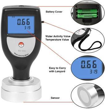 Analizador de medidor de actividad de agua de alimentos portátil de WA-60A con Cable USB y Software de medidor de verduras secas Jerky de carne de res