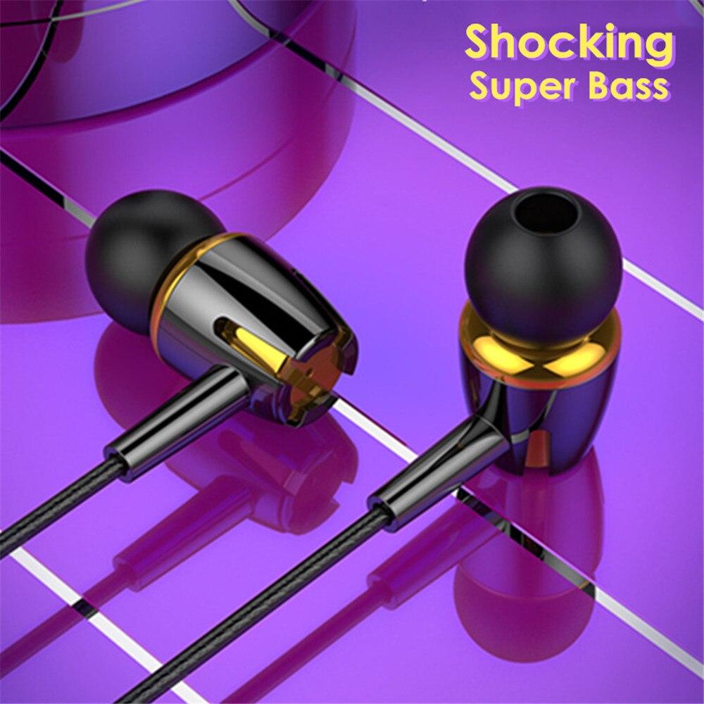 Luminosa estéreo super bass fone de ouvido fones 3.5mm com microfone com fio controle jogos para samsung xiaomi huawei lg