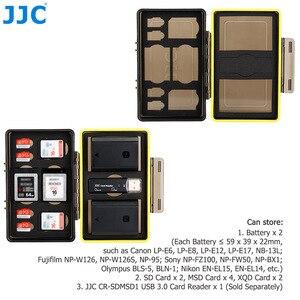 Image 3 - JJC المياه مقاومة المضادة للصدمة كاميرا بطارية حالة مربع ل فوجي فيلم NP W126 NP W126S NP 95 مع فتحات ل SD MSD XQD بطاقة الذاكرة