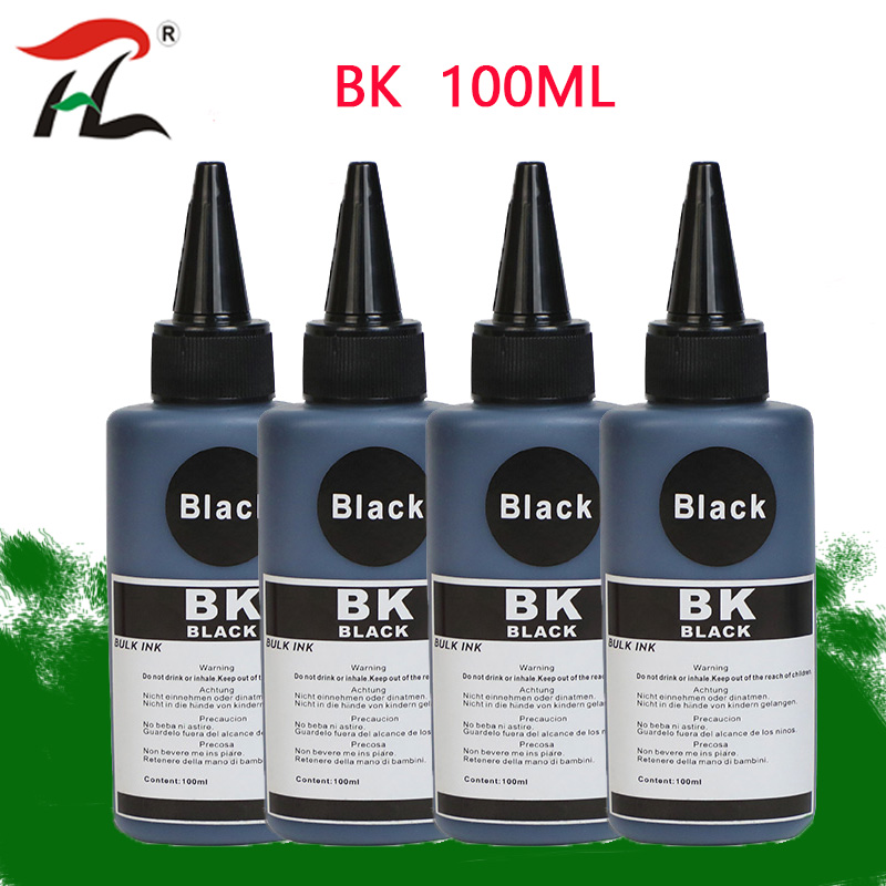 Black*4*100ML Refill Ink Kits For HP For Canon Samsung Lexmark Epson Dell Brother ALL Refillable Inkjet Printer