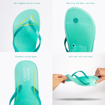 Womens Summer Slip-on Shoes Anti-slip Hard-wearing Fashion Leisure PVC Rubber Slippers Beach Swimming Indoor T-tied Flip Flops 4