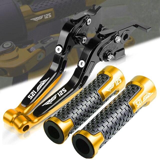 Motorrad CNC Zubehör FÜR APRILIA RS125 RS 125 1996 2005 2004 2003 Folding Erweiterbar Bremse Kupplung Hebel Griff Griffe enden
