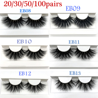 Luxury 25mm real mink lashes wholesale 3D mink eyelash natural long 20/30/50/100pairs handmade mink fur lashes