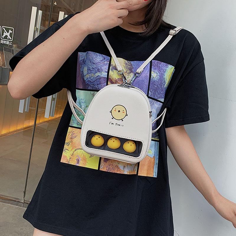 Cute Graffiti Crossbody Bags For Women Schoolbags For Girls Small Cartoon Print Women Shoulder Bag Women's Backpaks 2020 Fashion