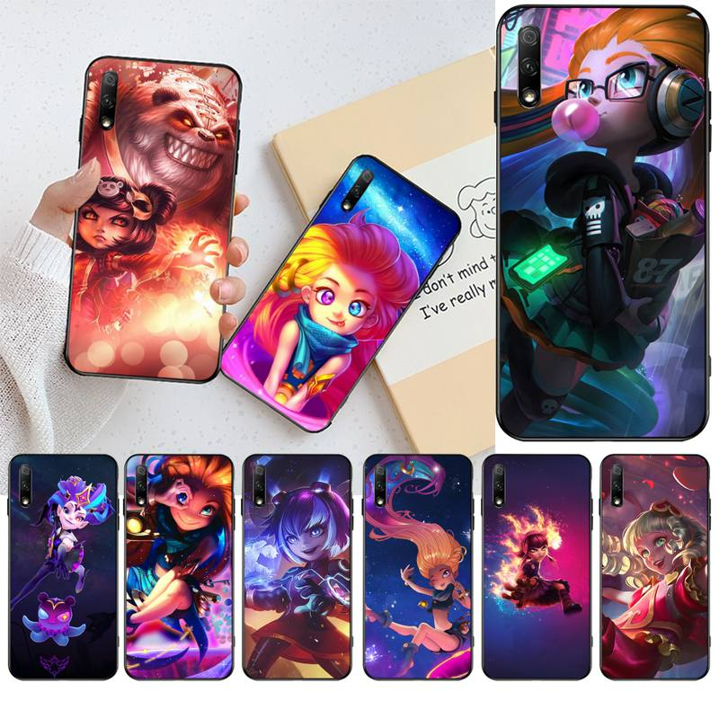 CUTEWANAN League of Legends Zoe <font><b>Annie</b></font> Black Soft Shell Phone Case Capa for Huawei Honor <font><b>30</b></font> 20 10 9 8 8x 8c v30 Lite view pro image