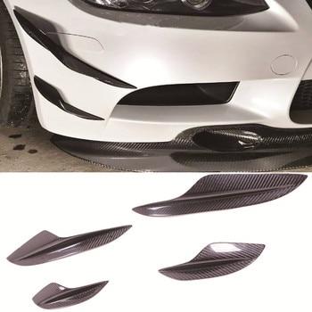 K Style Carbon fiber Front Spoiler Splitter Canard 4pcs/Set Fit For BMW E90 E92 E93 M3 fit for bmw e92 3 series spoiler 2005 2012 2 door e92 m3 performance style black carbon fiber rear wing spoiler