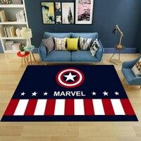 Kinderzimmer teppich junge schlafzimmer Britischen stil flagge Kapitän Amerika cartoon teppich boden matte baby teppich kinder weichen teppich angepasst-in Teppich aus Heim und Garten bei