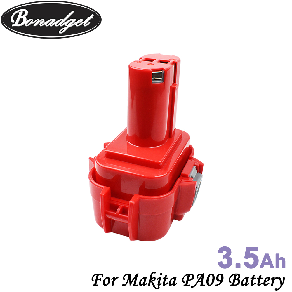 Bonadget 3500mAh <font><b>9.6V</b></font> Ni-MH For <font><b>MAKITA</b></font> <font><b>9120</b></font> PA09 Rechargeable <font><b>Battery</b></font> 9122 9133 9134 9135 9135A 6222D 6260D PA09 6207D 192595-8 image