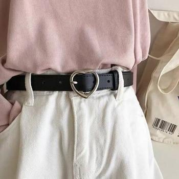 Fashion Women PU Leather Belt Gold Silver Heart Pin Buckle Waist Strap New Design Ladies Trouser Dress Decoration Waistband цена 2017