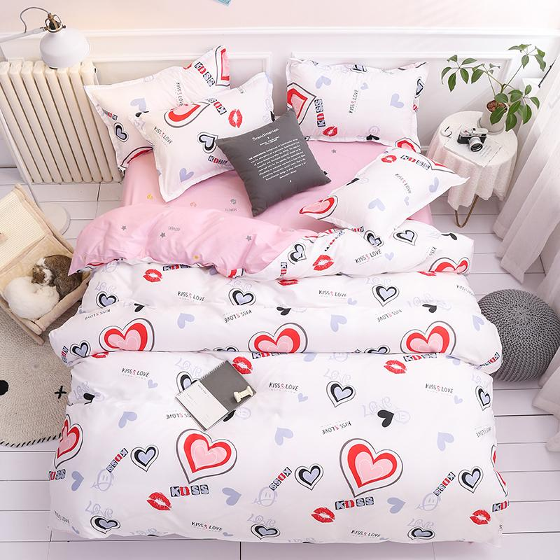 50 Christmas Snowflake Bedding Set Unicorn Bed Linen Duvet Cover Flat Sheet Pillowcase Sets Queen King Twin Full Size