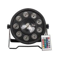 Draadloze Afstandsbediening LED Par 9x10W + 30W RGB 3N1 LED Wash Light Stage Uplighting Geen noise Afstandsbediening SHEHDS