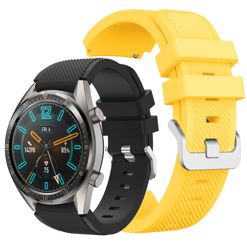 Sport Watchband For Huawei Gt2 Strap Smart Watch Accessories 22mm Silicone Sport Bracelet Men Band For Huawei Gt 2 46mm Correa