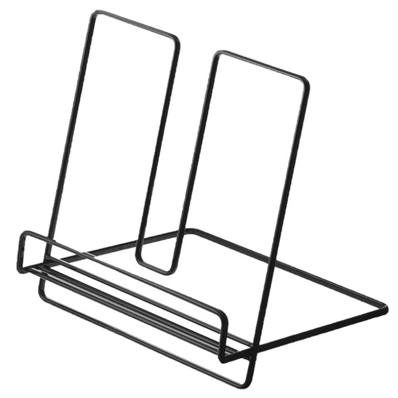 New-Simple Wrought Iron Desktop Storage Rack Shelf File Magazine Storage Box Office Rack Jewelry