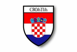 Image 1 - Sıcak satış etiket araba motosiklet arması şehir bayrağı hırvatistan hırvat çıkartmalar dizüstü bilgisayarlar için, ofis malzemeleri, motosiklet, araba