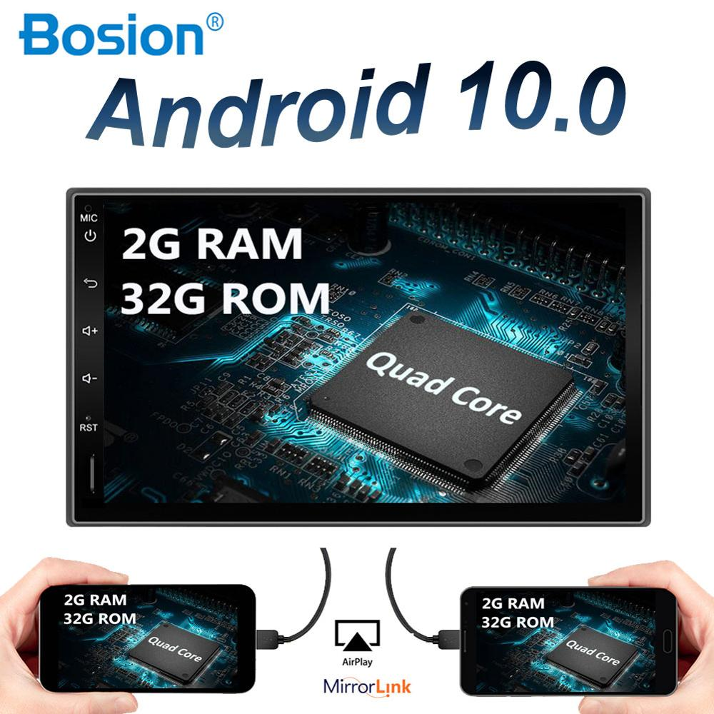 2 Din Android 10.0 Car Radio Stereo Audio Universal Autoradio GPS Navigation Free Camera Map AUX RDS Quad Core 2G RAM+32G ROM image