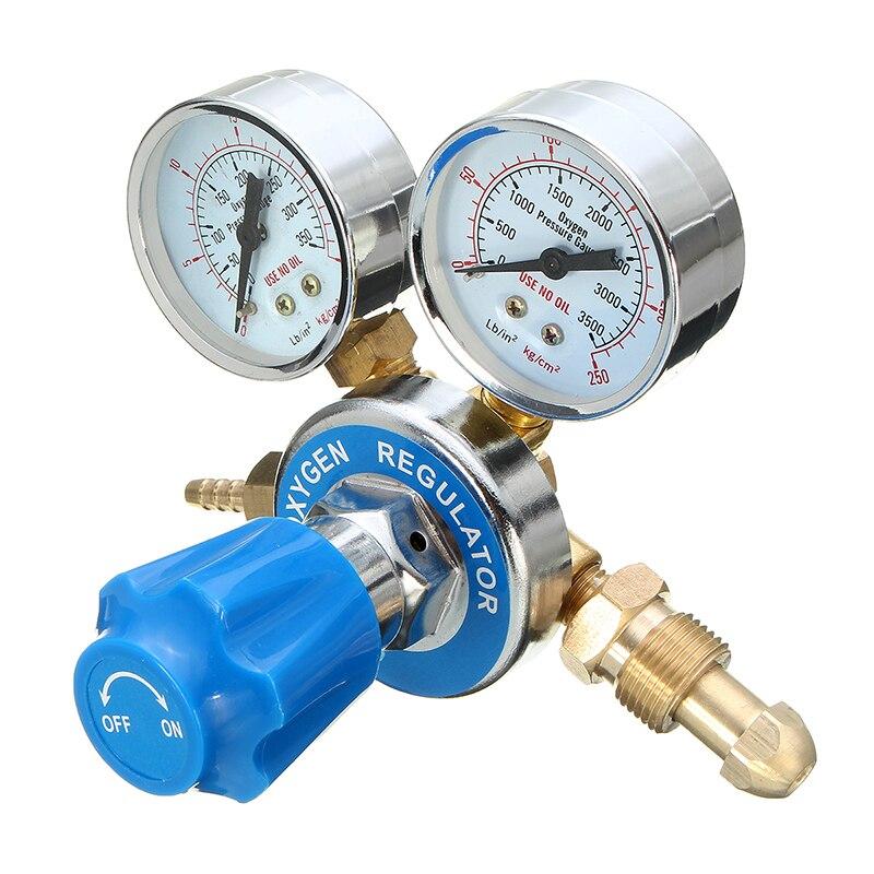 Argon Oxygen/Acetylene Regulator Reducer Mig Flow Meter Pressure Gas Solid Brass Welding Fit Victor Gas Torch Cutting