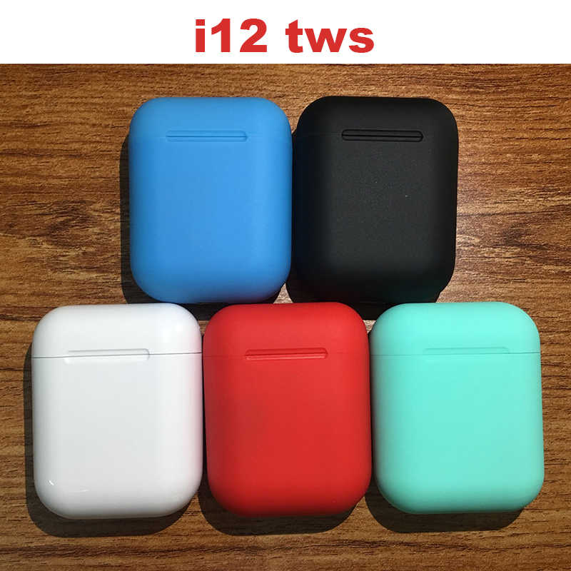 Baru Panas 12 Tws Pop Up Bluetooth Earphone Nirkabel Kontrol Sentuh Earbud Headset I12tws Tidak 1:1 Replika I30 Tws I20 i10 I30tws