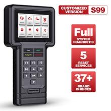 Thinkcar thinkscan s99 sistema completo diagnosticar scanner leitor de código diy qualquer carro obd2 óleo/freio/sas/ets/dpf redefinir ferramenta de diagnóstico