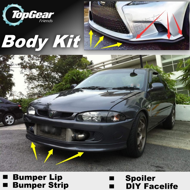 Car Bumper Lip Deflector Front Skirt Splitter For Renault For Proton Tuning View