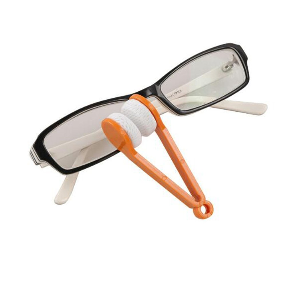 Mini Sun Eyeglass Microfiber Spectacles Cleaner Brush Cleaning Tool Spectacle Glasses Clean Wipe Random Color