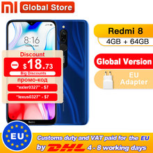 Global Version Xiaomi Redmi 8 4GB 64GB Octa-core Snapdragon 439 processor 12 MP dual camera Smartphone 5000 mAh Redmi 8 cheap Not Detachable Android Fingerprint Recognition other 12MP Quick Charge 3 0 Smart Phones Capacitive Screen English Russian