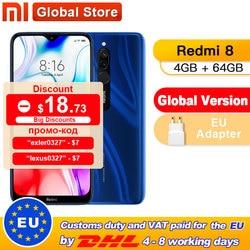 Globalna wersja Xiaomi Redmi 8 4GB 64GB octa core Snapdragon 439 procesor 12 MP podwójny aparat Smartphone 5000 mAh Redmi 8 w Telefony Komórkowe od Telefony komórkowe i telekomunikacja na