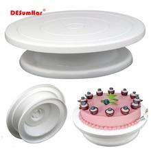 """Сковородка """"сделай сам"""" инструмент для выпечки пластиковая тарелка для торта вращающаяся противоскользящая круглая подставка для торта украшение поворотный стол кухонный инструмент"""