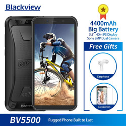 Перейти на Алиэкспресс и купить original blackview bv5500 5.5дюйм. ip68 waterproof rugged outdoor smartphone 2gb+16gb android 8.1 4400mah dual sim 18:9 mobile phone