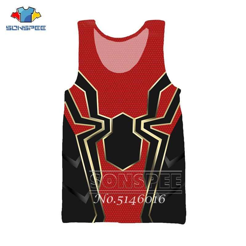 SONSPE Marvel Süper Kahraman Örümcek Adam Kostüm Tasarımı 3D Baskı T-shirt Unisex Yelek/Sweatshirt/zip hoodie Çocuk Bebek Rahat gömlek x27
