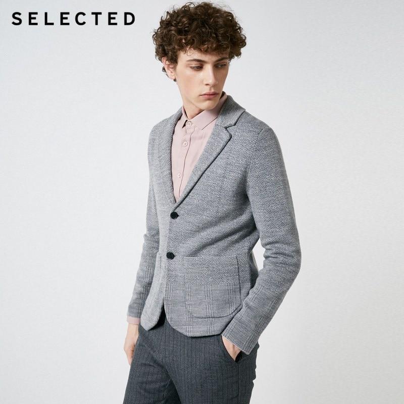 اختيار الرجال الخريف و الشتاء الجاكار محبوك سترة S  418425536-في رقبة مثلثة من ملابس الرجال على  مجموعة 1