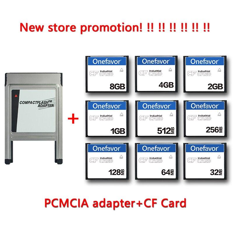 Компактная флеш-карта объемом 128 Мб, 256 Мб, 512 МБ, 1 ГБ, 2 ГБ, 4 Гб, промышленная карта памяти CF с адаптером PCMCIA для станка ЧПУ IPC с числовым управле...