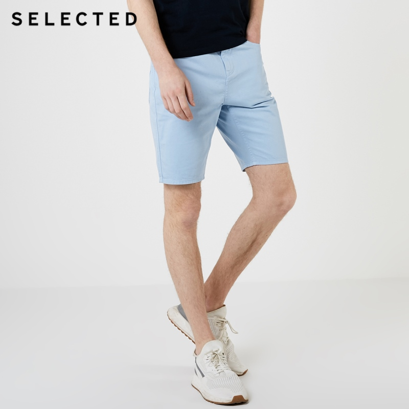 SELECTED Men's Slim Fit Light Color Tapered Denim Shorts S|4192S3507