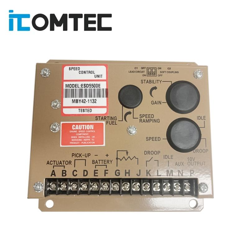 Регулятор скорости двигателя ESD5500E для дизельного генератора, устройство управления с двойными конденсаторами, некоторые детали, сделано в ...