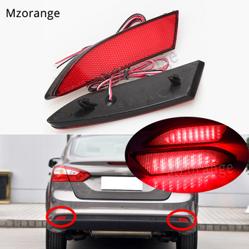 цена на 1 pair Tail Rear Bumper Reflector Light For Ford Focus 3 2012-2014 Sedan Hatchback LED Brake lights Tail Stop Lamp turn signal