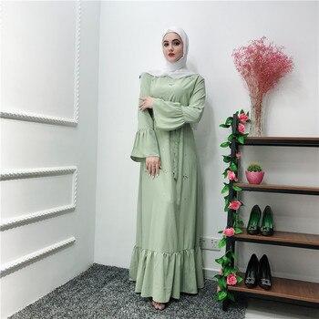 Muslim Women Abaya Dress Kaftan For Eid 2020 Fashion Elegant Kaftan Abaya Ladies Long Maxi Dresses Turkish Hijab Arab Islam Robe muslim women abaya side slit fine embroidery arab long dresses female elegant party vestidos